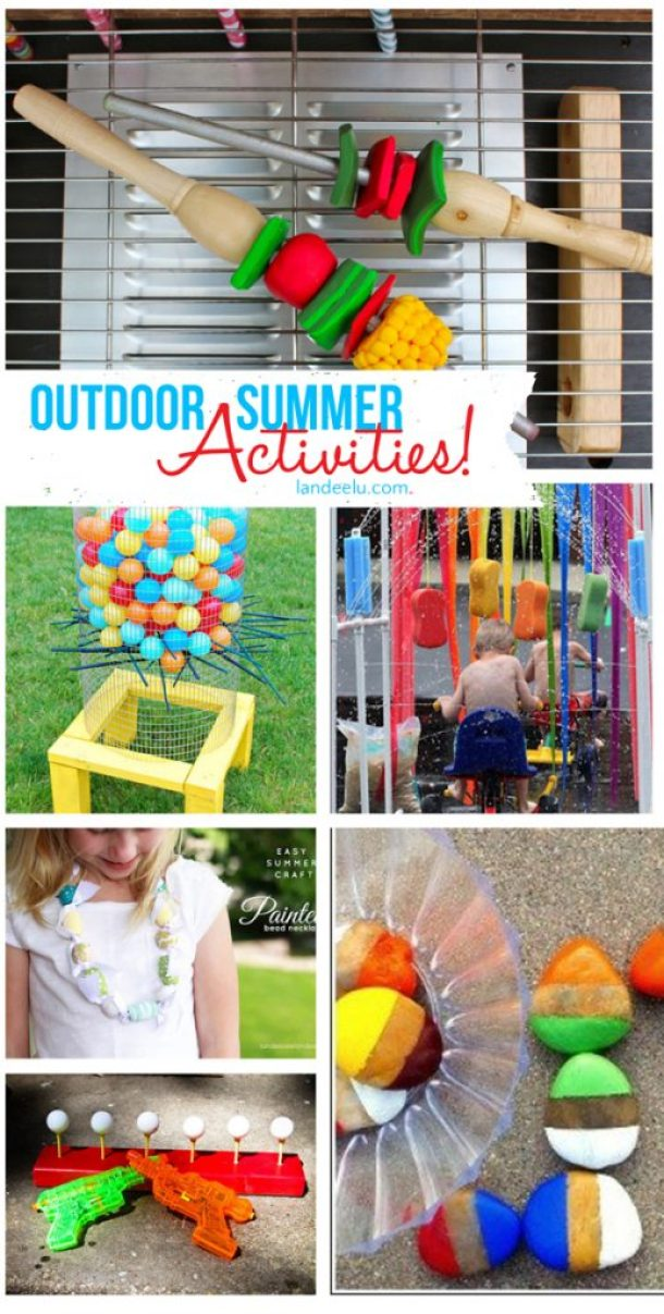 Outdoor Summer Activities Ideas! So many fun things to do with your kids this summer! via Landeelu
