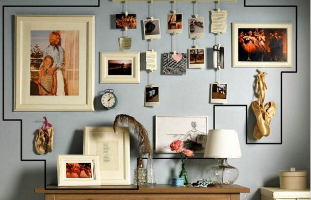 Creative Wall Displays: Gallery Walls and more! | landeelu.com on Creative Wall  id=58011