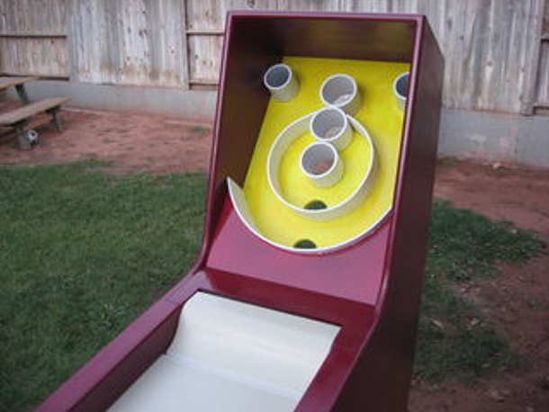 homemade skee ball game by instructables