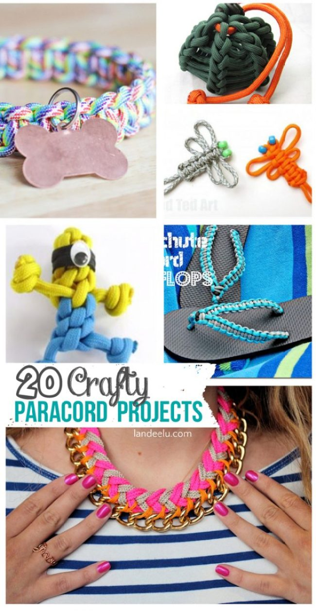 Over 20 Crafty Paracord Projects!  You can make so many cool things out of paracord!