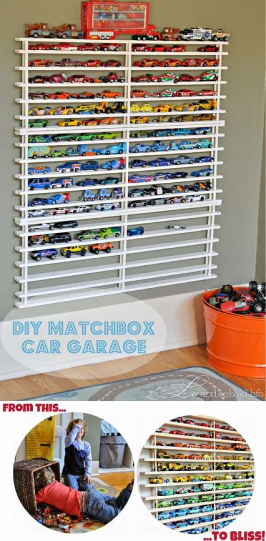 DIY Matchbox Car Garage via a Lo and behold life