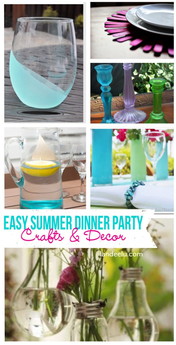 Dinner Party Ideas Easy Part - 43: Is There Anything Better Than A Casual Summer Dinner Party? Put Something  On The Grill. Add A Few Festive Touches And Guests Leave Thinking That A  Summer ...