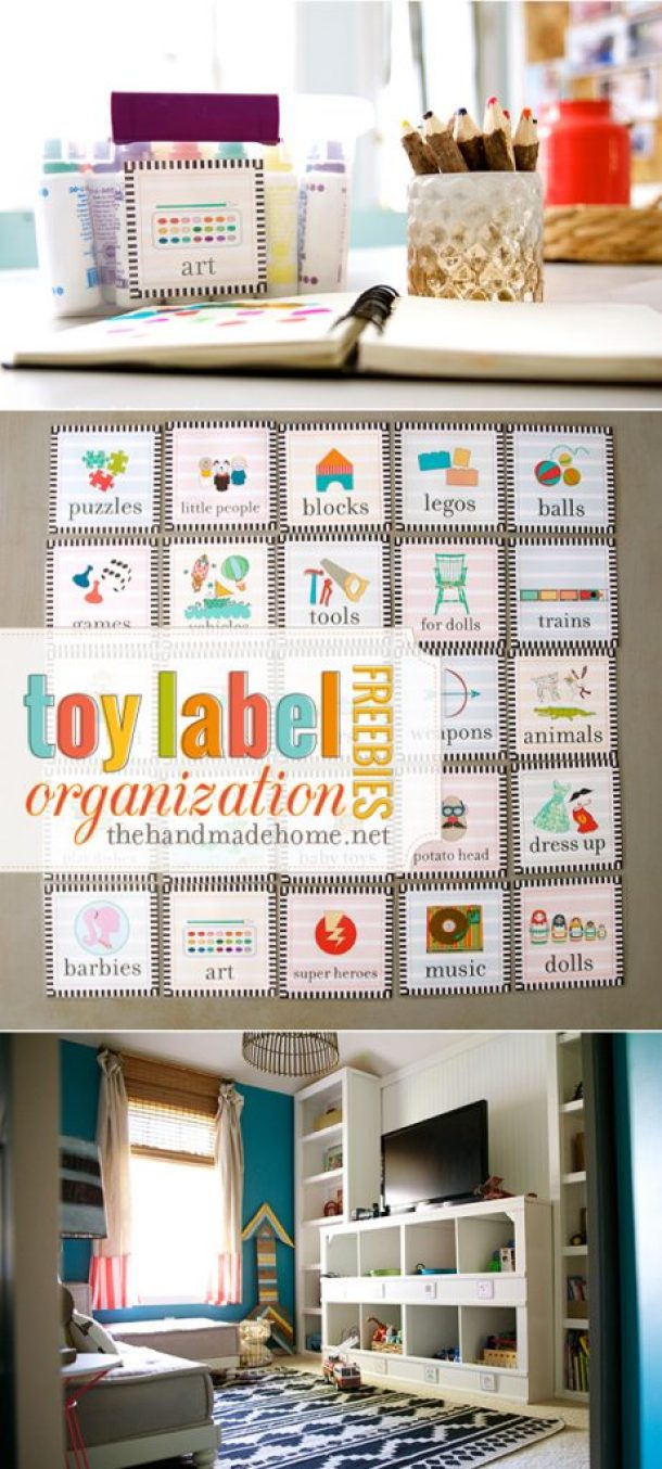 toy_label_organization FREE labels via The Handmade Home