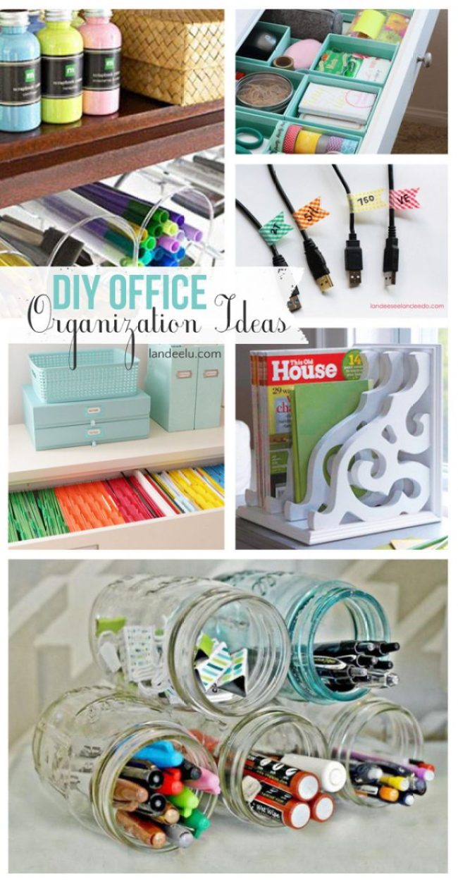 Fantastic DIY organizing ideas for your office!