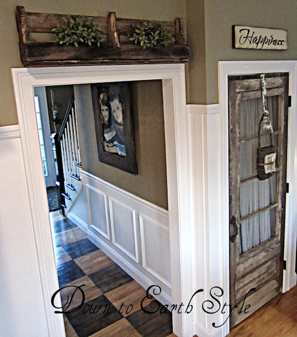 Debbie doo Vintage Door leading to basement or pantry