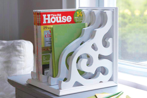 Magazine Rack via This Old House