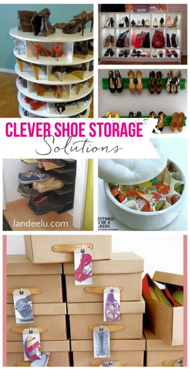 Clever Shoe Storage Solutions | landeelu.com A girl has got to have her shoes! :)