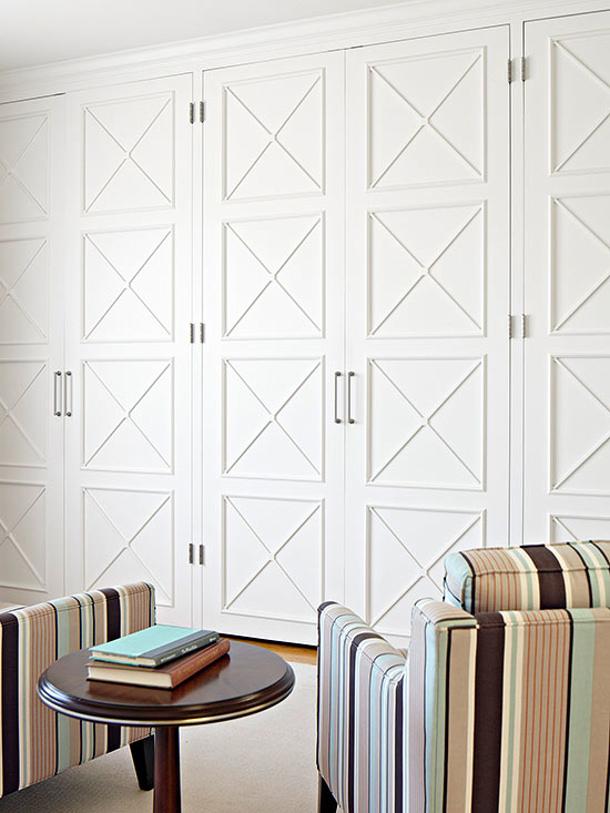 ... Add Molding To Flat Panel Doors Via Bhg
