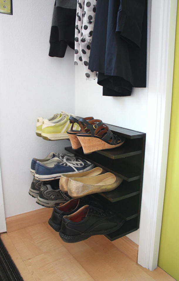 floating shoe shelves via not martha