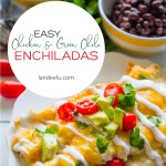 These easy chicken and green chili enchiladas are sure to be a family favorite! #enchiladas #chickenenchiladas #enchiladarecipe #mexicanfood