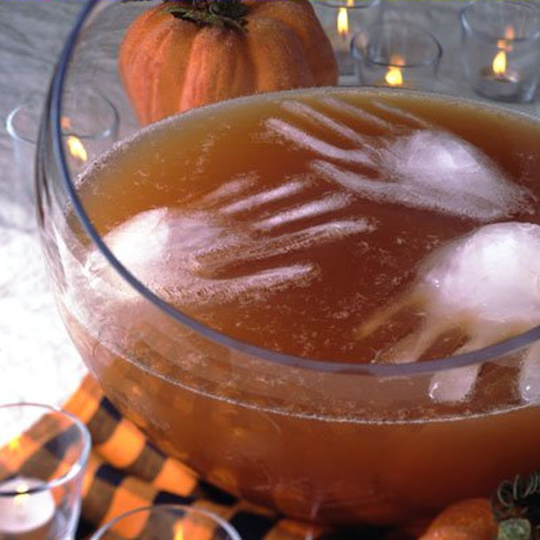 floating ice hands Creepy Halloween Punch