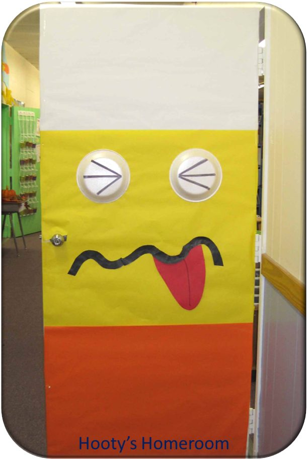 Candy Corn Door via Hootys Homeroom