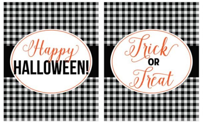 Two adorable Halloween printables. Free downloads!