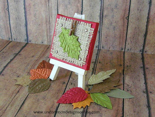 Thanksgiving Easel Place Card Holders Tutorial via UNCOMMON designs