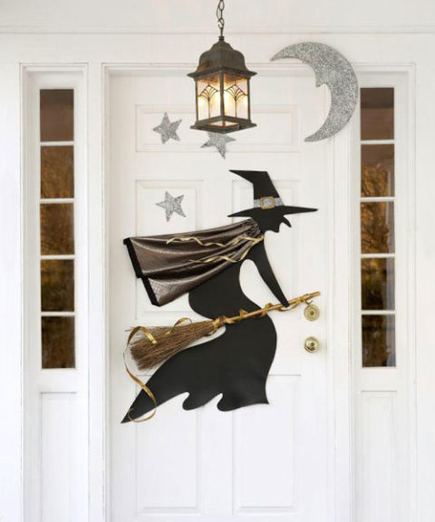 Twinkling Styrofoam Stars and Vinyl Witch Craft Downloadable Template and Instructions via Good Housekeeping