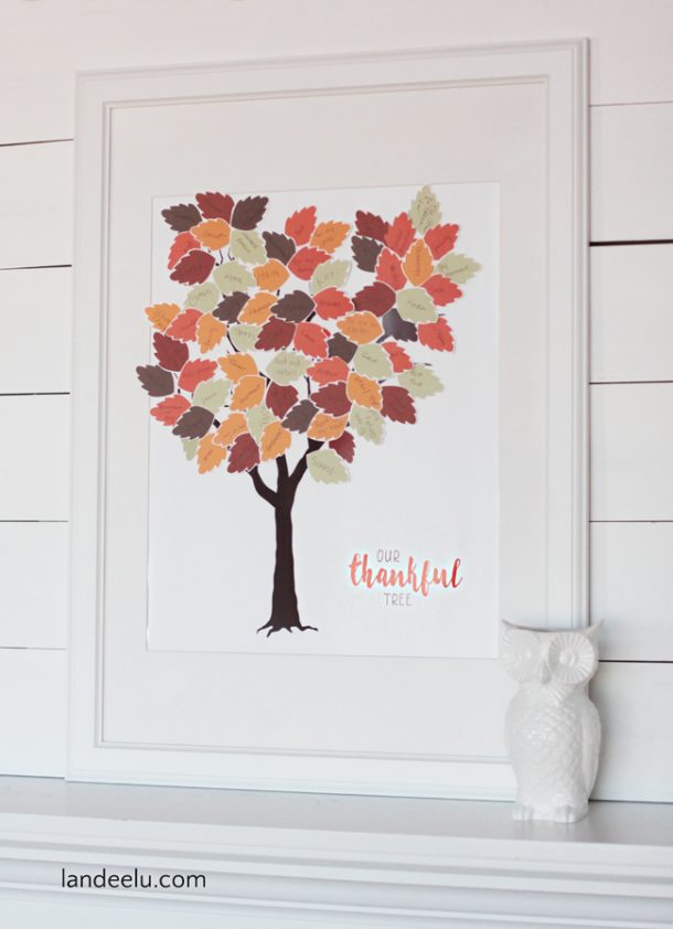 picture about Thankful Tree Printable named Grateful Tree Printable