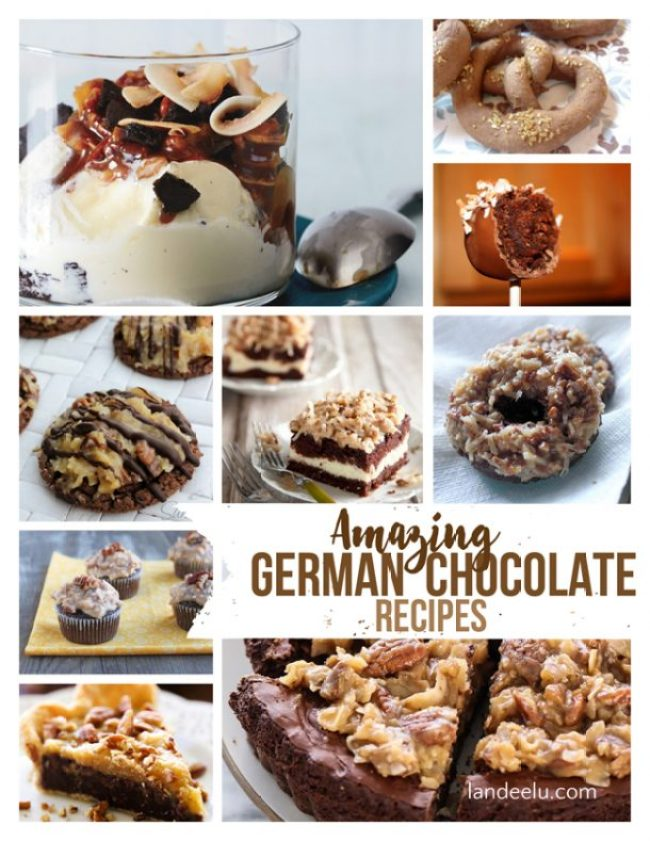 Amazing German Chocolate Recipes! Can't wait to try these!   landeelu.com