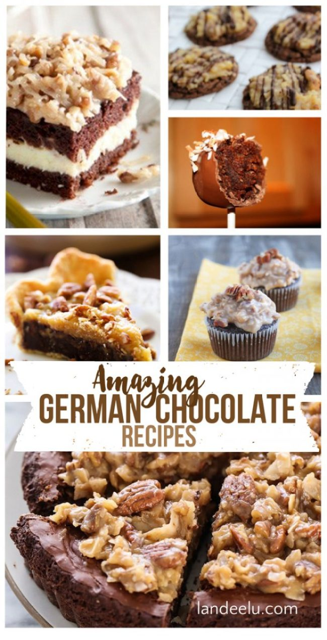 Amazing German Chocolate Recipes! Can't wait to try these! | landeelu.com