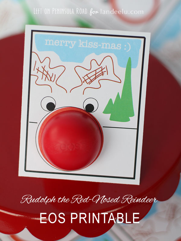 Free Rudolph EOS Printable for Holiday Gift-Giving