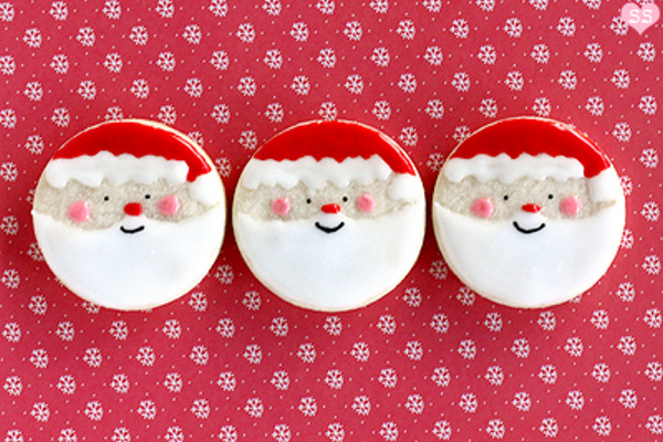 Santa Sugar Cookies Diamonds For Dessert