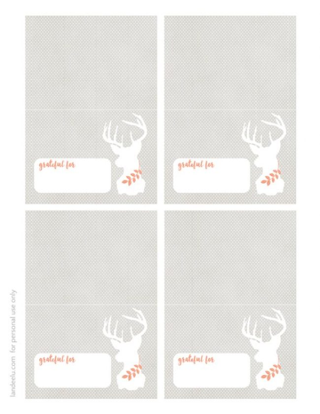 Thanksgiving Place Cards set of 4 sm