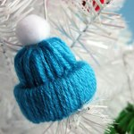 Winter Hat Tree Ornament Yarn Craft
