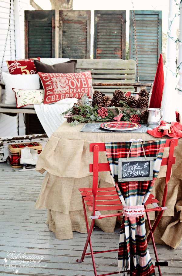 Burlap and Plaid Celebrating everyday life