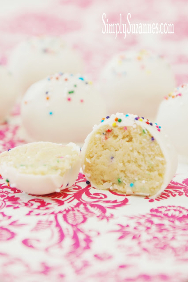 Cake Batter Truffle Simply Suzannes