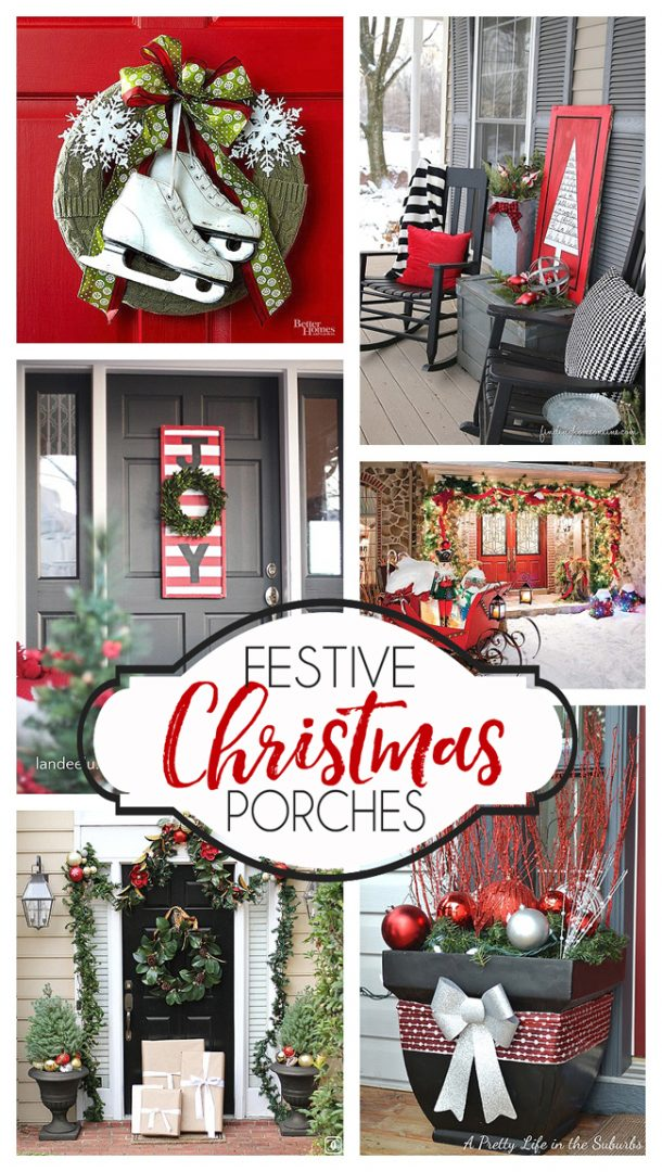 festive christmas porch ideas so many inspiring christmas porch decorating ideas - Christmas Porch Decor