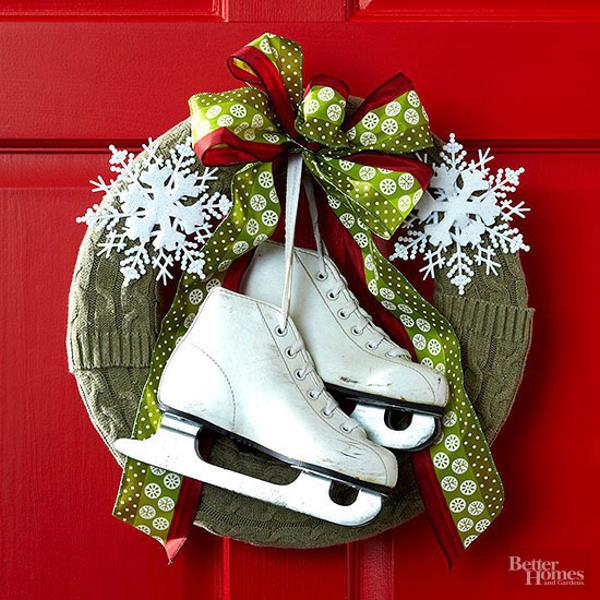 Ice Skating Wreath BHG
