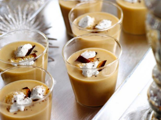 White Bean Soup Shooters with Bacon food network