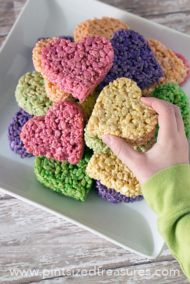Heart Rice Krispies Treats Pint Sized Treasures