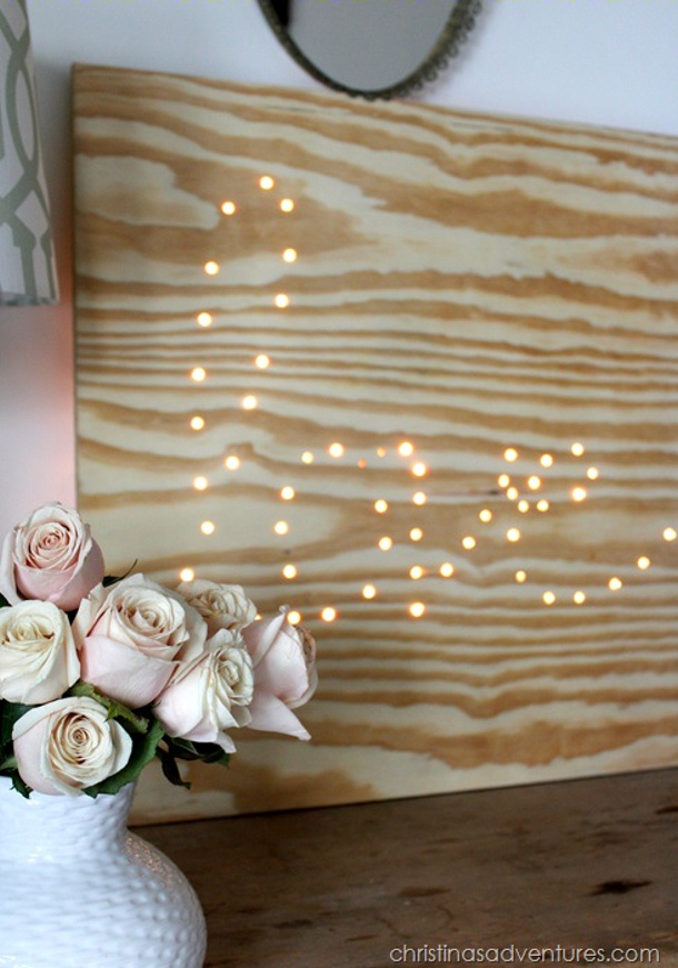 Lighted Plywood Love sign Christinas Adventures