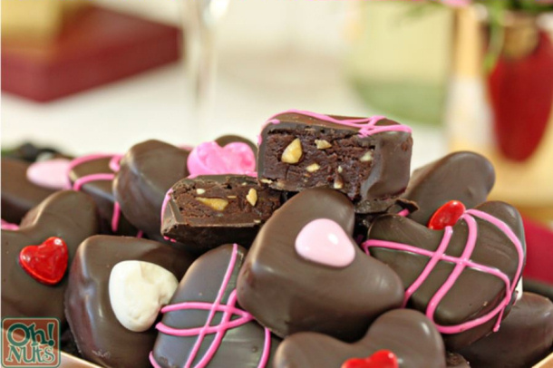 Nutella Candy Hearts via Oh Nuts