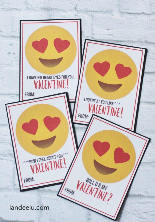 Emoji Printable Valentines