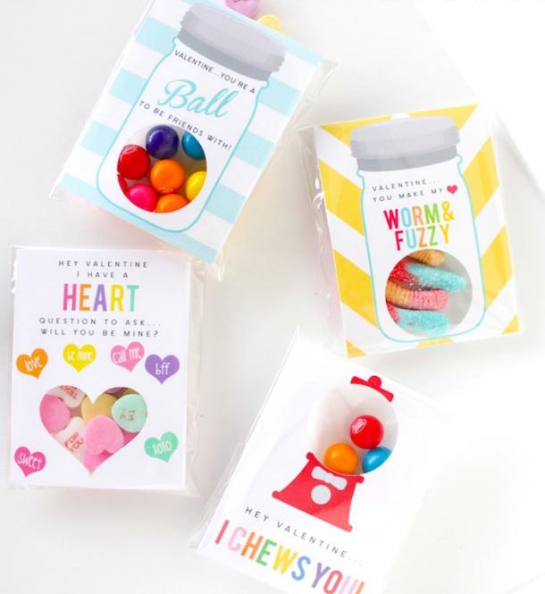 DIY Valentines - Valentine Free Printables Petite Party Studio