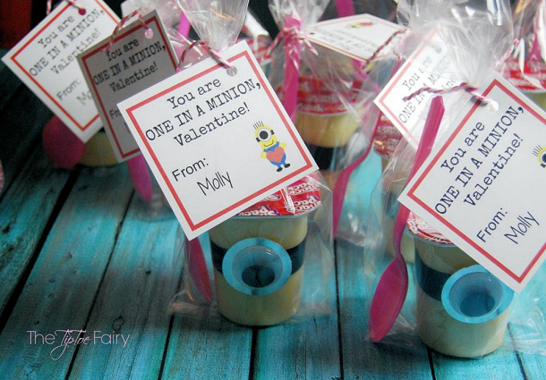 minion-valentine snack pack puddings tip toe fairy