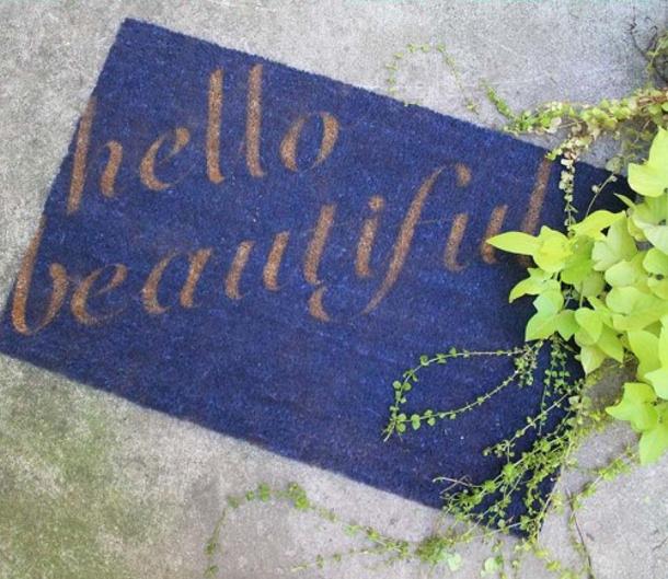 Hello Beautiful Doormat Design Sponge