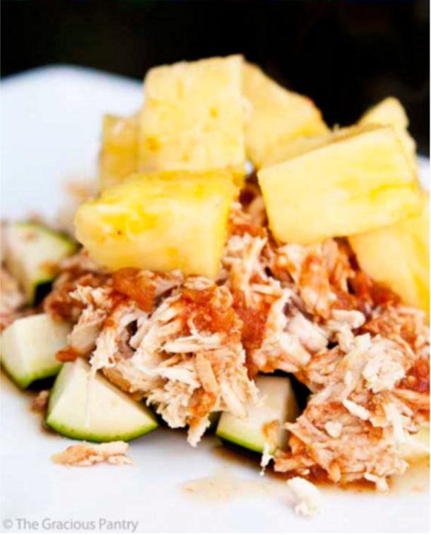 Pineapple Chicken Crockpot Clean Eating Recipe The Gracious Pantry