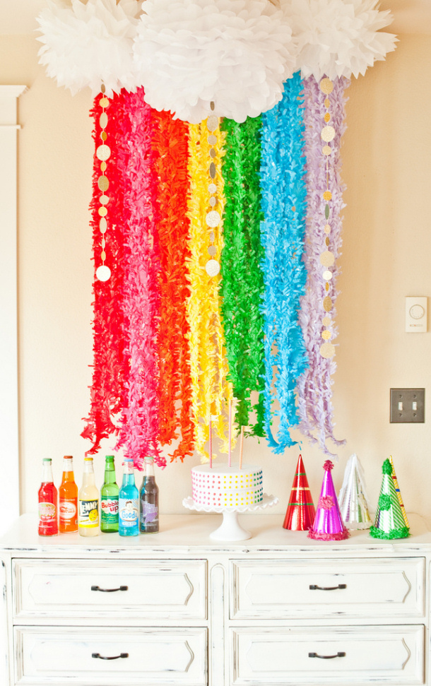 Rainbow and Coins Backdrop DIY Shop Sweet Lulu