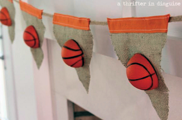 Basketball Bunting DIY Thrifter in Disguise