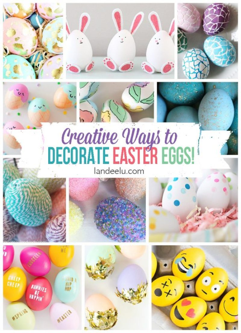 I love all of these Easter egg designs! I want to try them all but those bunny eggs are the cutest!