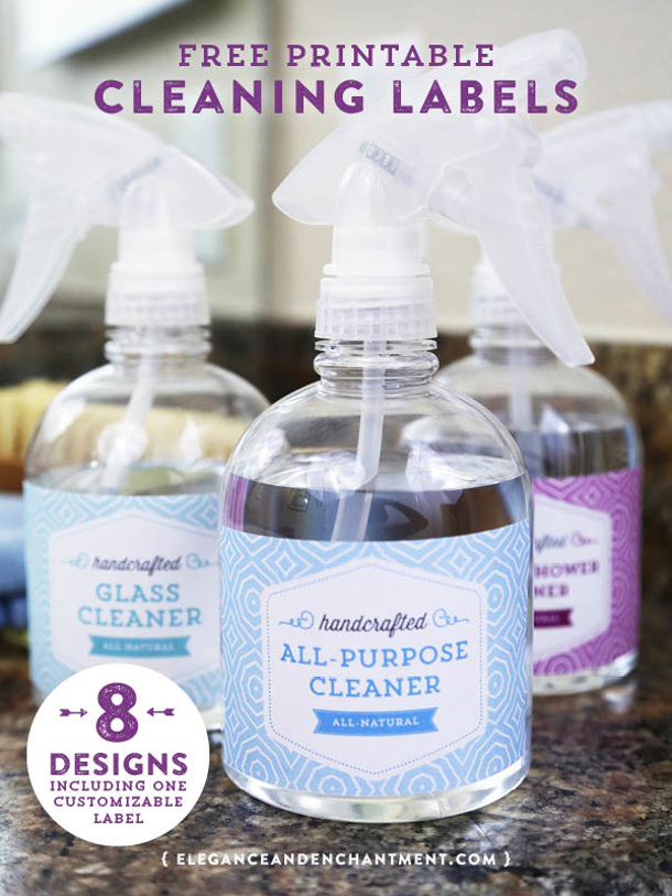 Free-Printable-Cleaning-Labels-from-Elegance-and-Enchantment
