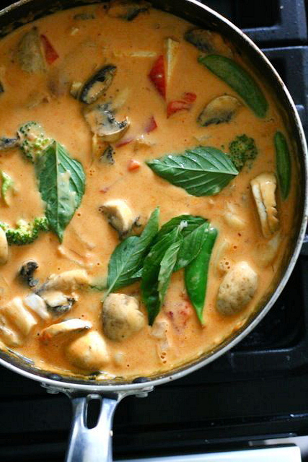 Chicken Curry Recipe - Panang Chicken Curry Recipe via Bon Appetit