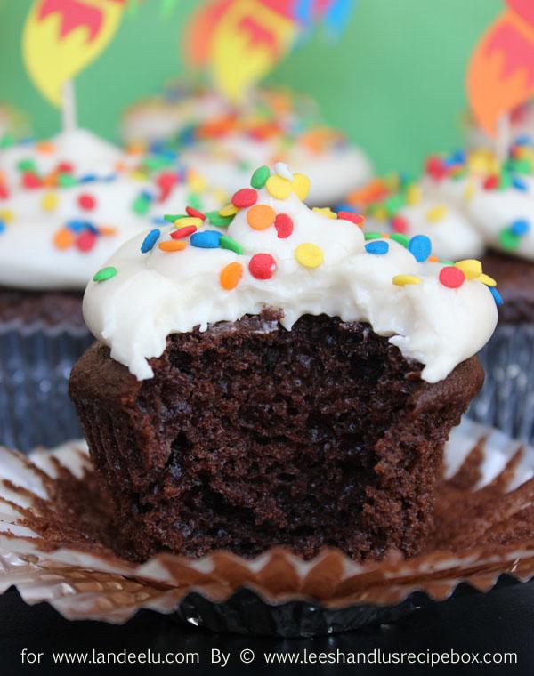Doctored up chocolate cupcakes (23) LandeeLu