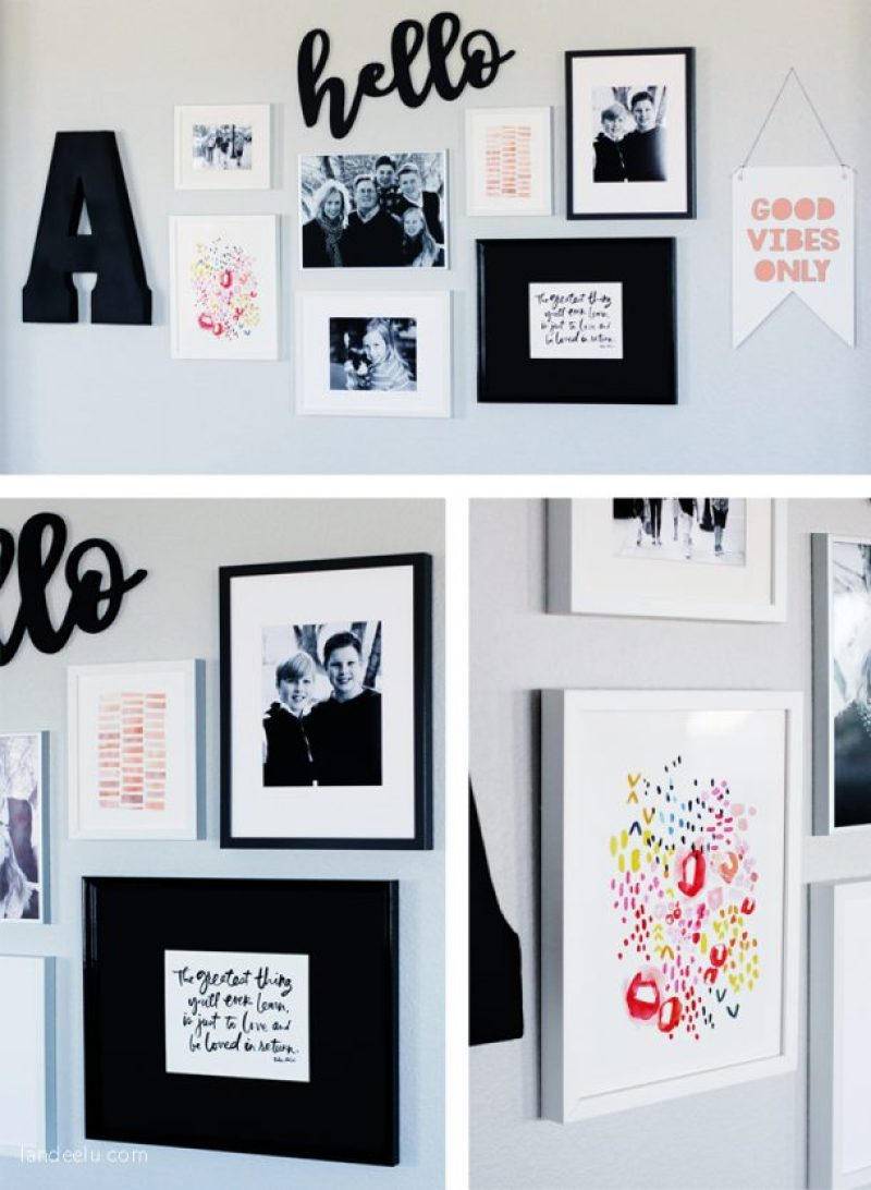 Gallery Wall with Minted.com Art! | landeelu.com