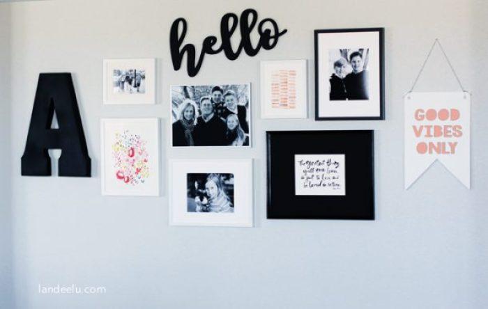 Gallery Wall with Minted Art! | landeelu.com