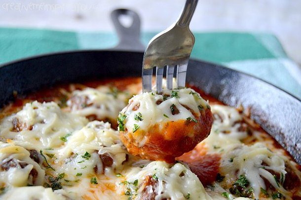 Ground Beef Recipes - Mouthwatering Parmesan Meatballs via creative me inspired you