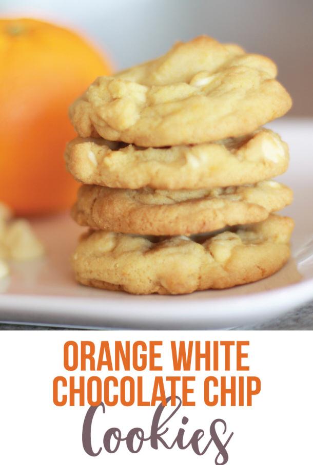 Orange White Chocolate Chip Cookies Recipe via Landeelu