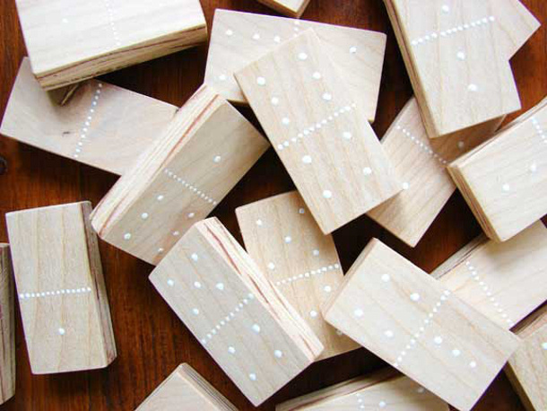 DIY Fathers Day Gift Ideas - Make a Pretty Handmade Dominoes Set - Tutorial via A Beautiful Mess